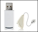 Receiver style no gap free hearing aid